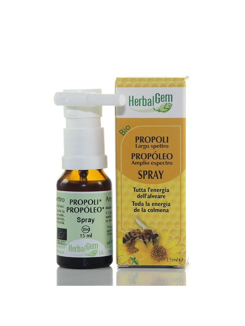 Propóleo amplio espectro spray • HerbalGem • 15 ml.