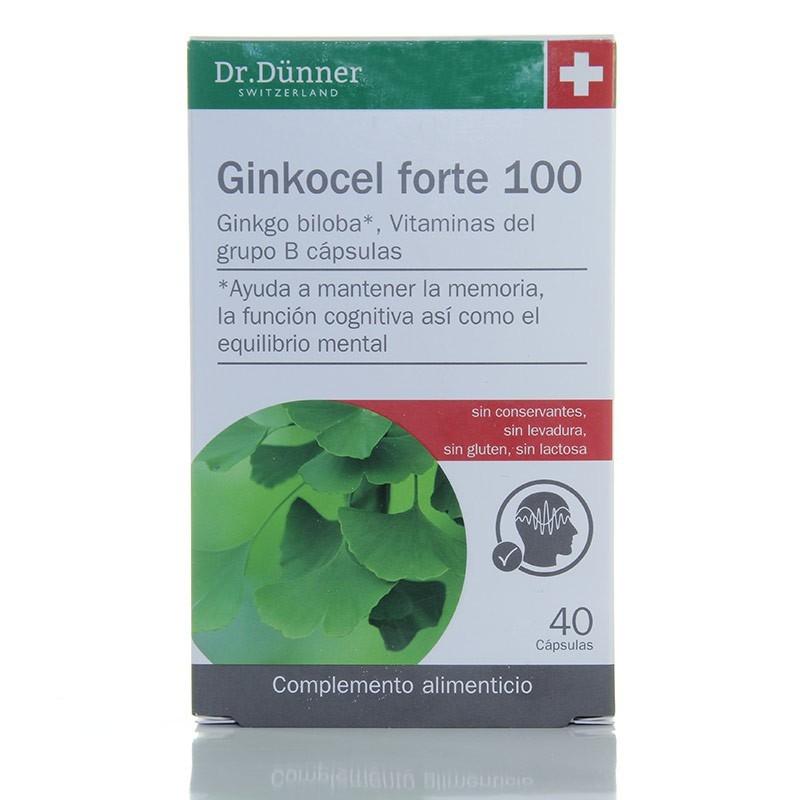 Ginkocel forte 100 • Dr.Dünner • 40 cápsulas
