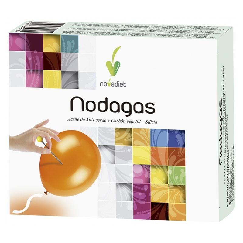 Nodagas Carbón Vegetal • Novadiet • 48 cápsulas blandas